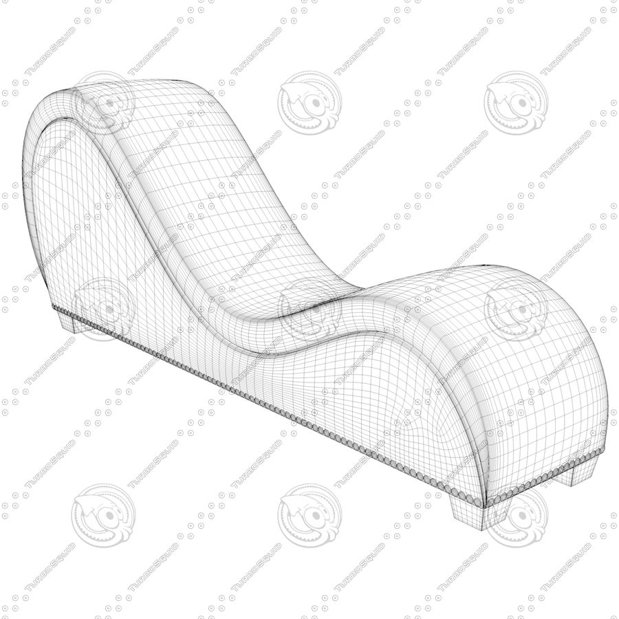 Tantra Chair - Meubels voor seks royalty-free 3d model - Preview no. 8