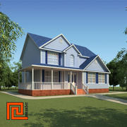 Low poly house 14 3d model