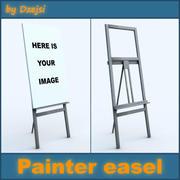 Painter easel 3d model