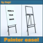 画家イーゼル 3d model