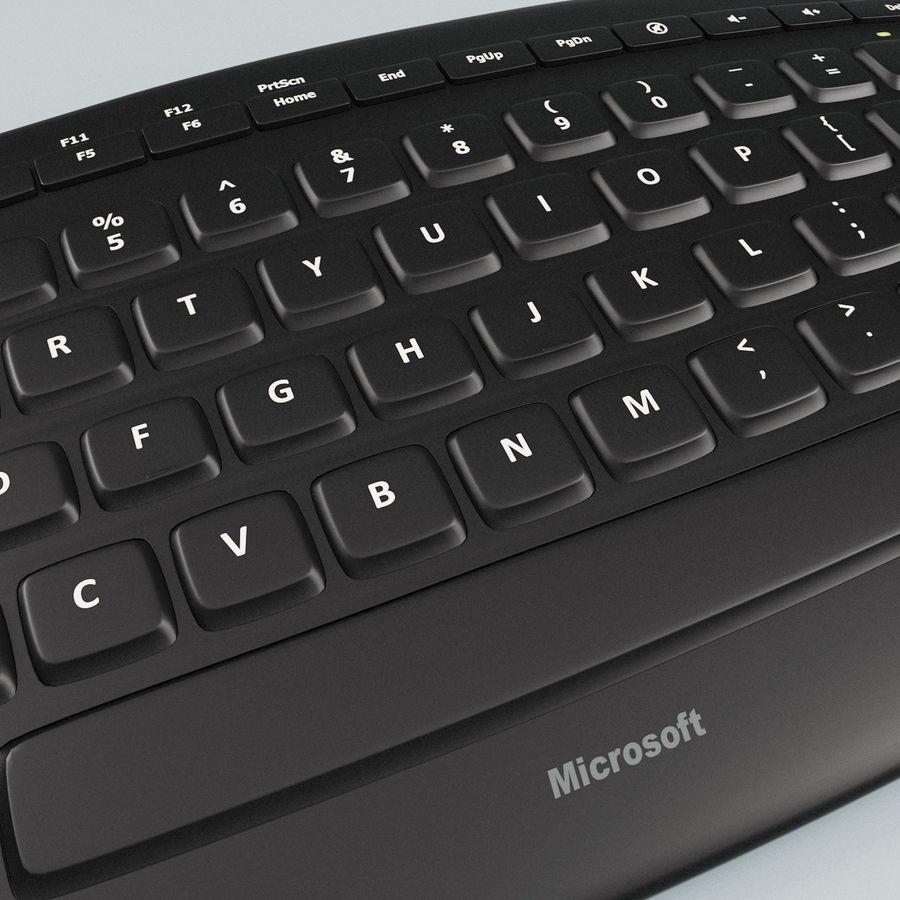 Microsoft Arc Keyboard royalty-free 3d model - Preview no. 9