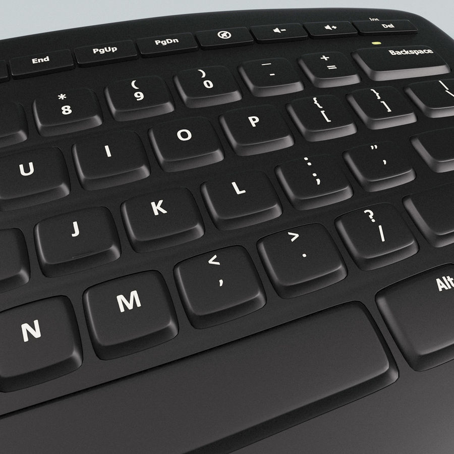 Microsoft Arc Keyboard royalty-free 3d model - Preview no. 10
