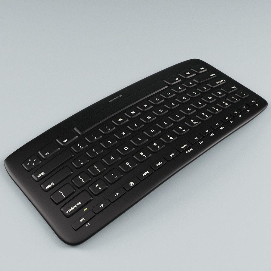 Microsoft Arc Keyboard royalty-free 3d model - Preview no. 5