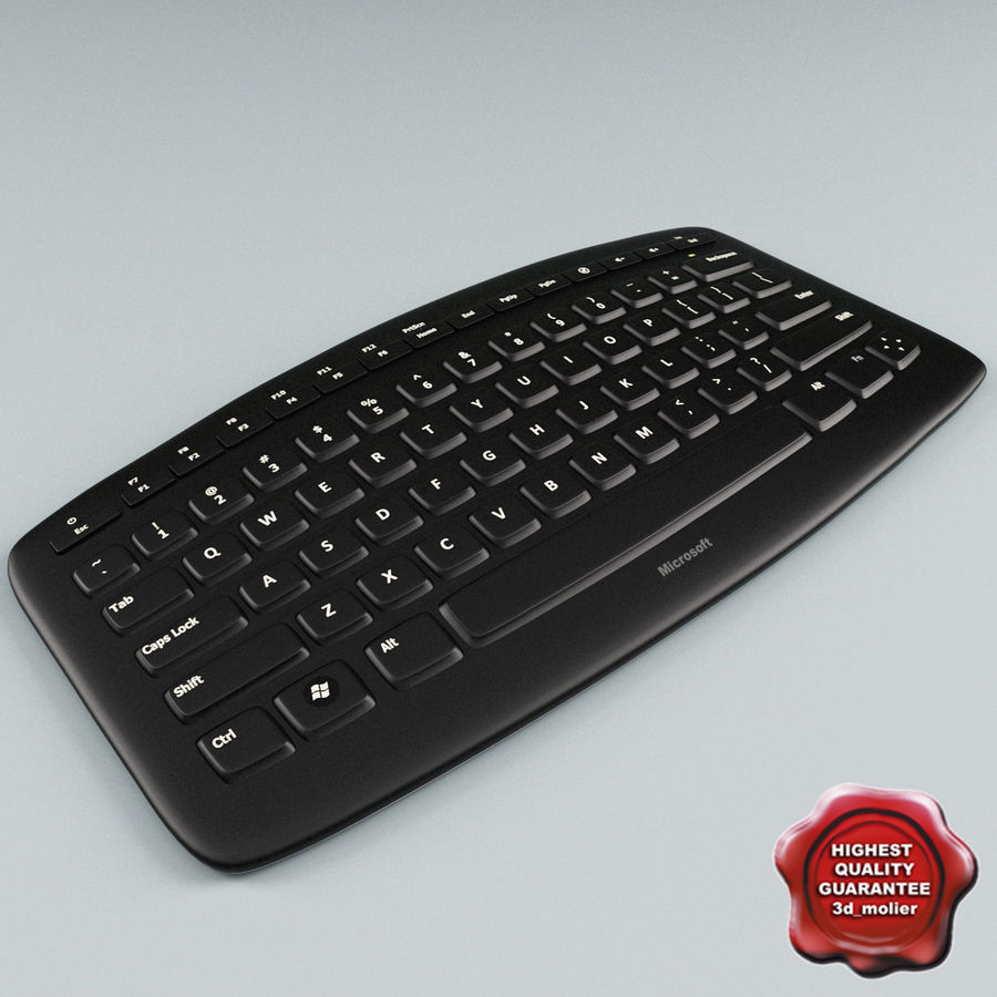 Microsoft Arc Keyboard royalty-free 3d model - Preview no. 1