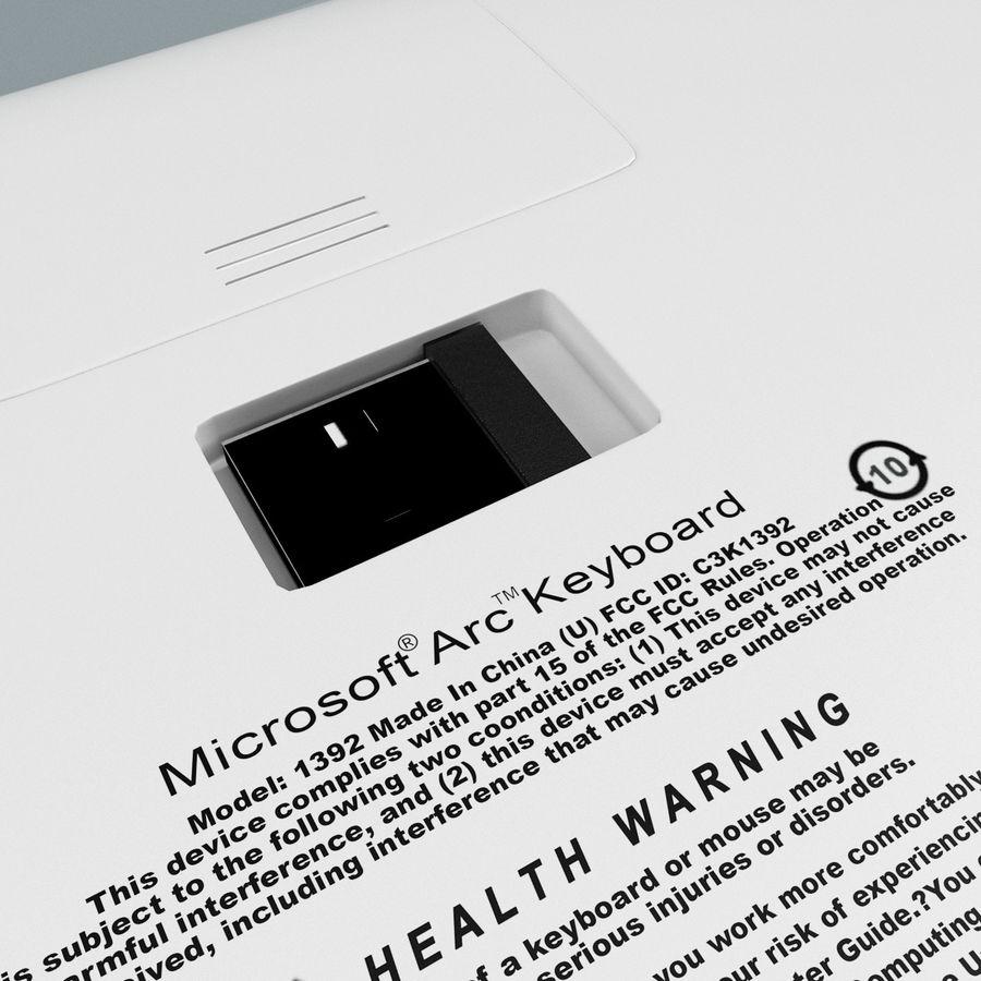 Microsoft Arc Keyboard royalty-free 3d model - Preview no. 14