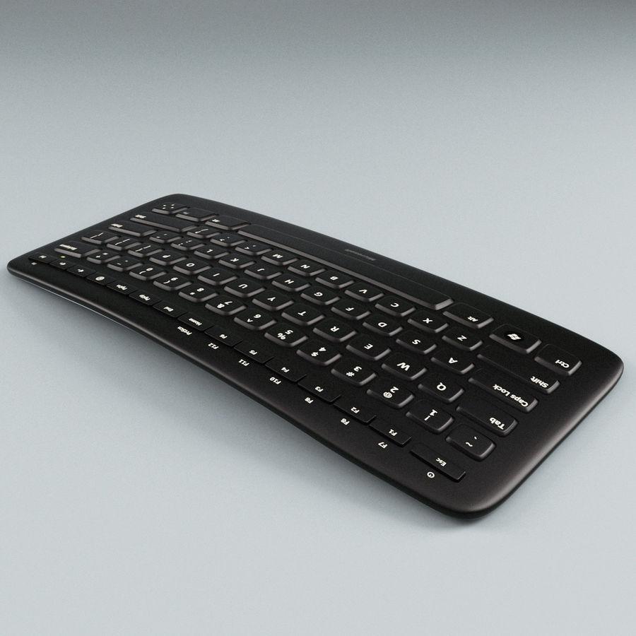 Microsoft Arc Keyboard royalty-free 3d model - Preview no. 4