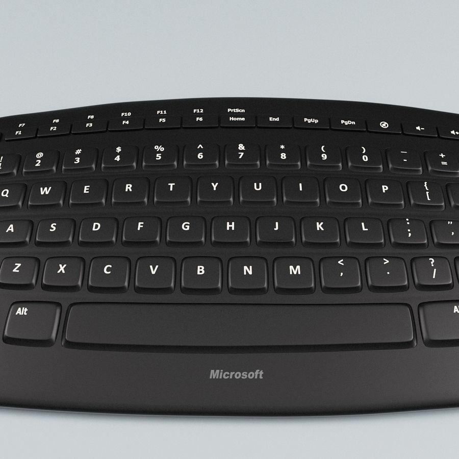 Microsoft Arc Keyboard royalty-free 3d model - Preview no. 7