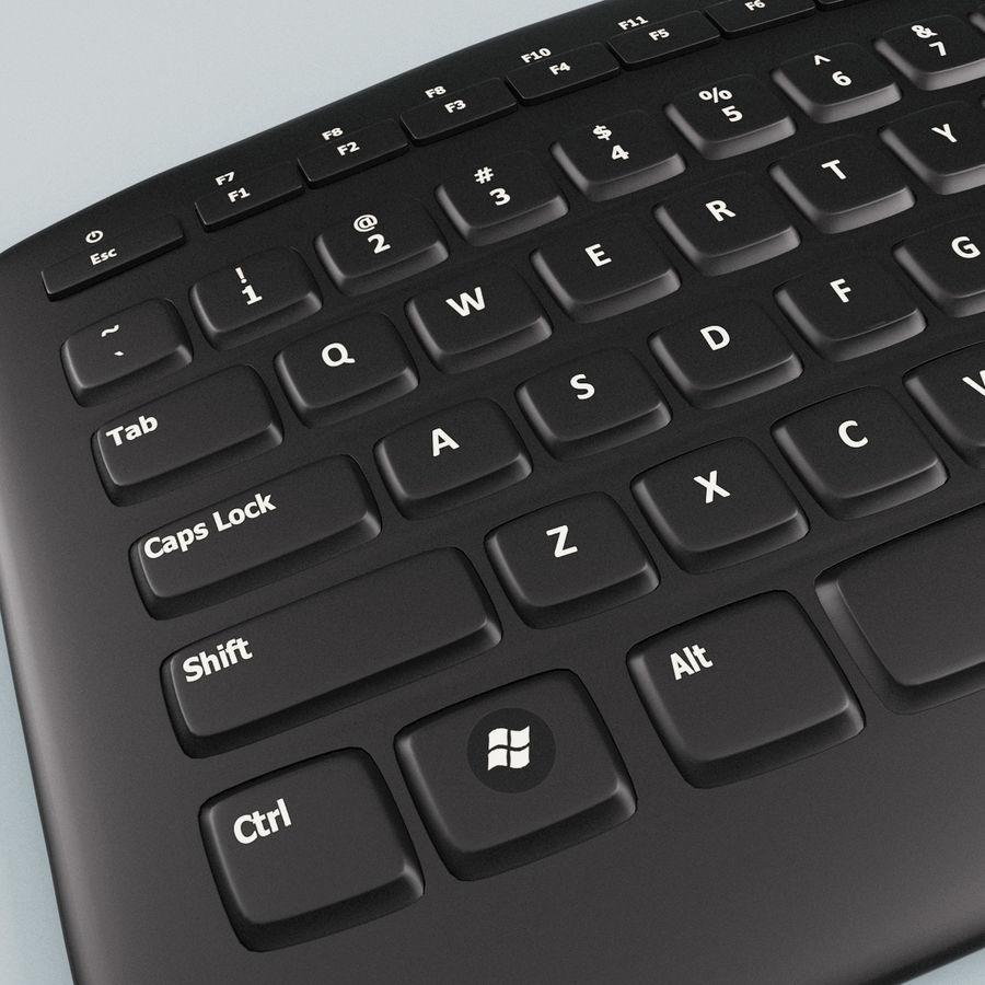 Microsoft Arc Keyboard royalty-free 3d model - Preview no. 8