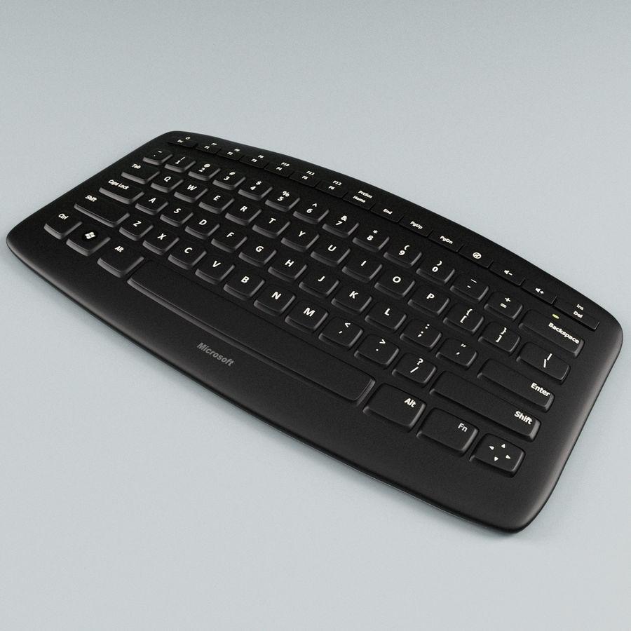 Microsoft Arc Keyboard royalty-free 3d model - Preview no. 6