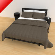 Bed 04 - Luxury 3d model