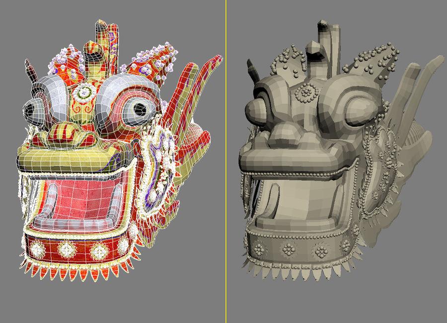 Chiński smok latawiec royalty-free 3d model - Preview no. 7