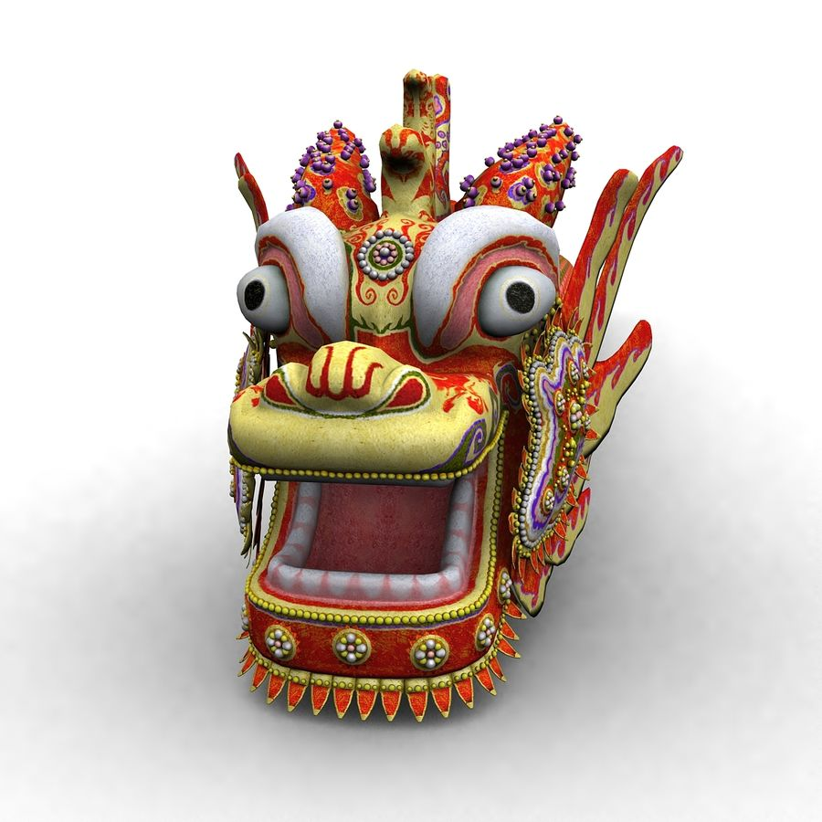 Chiński smok latawiec royalty-free 3d model - Preview no. 1