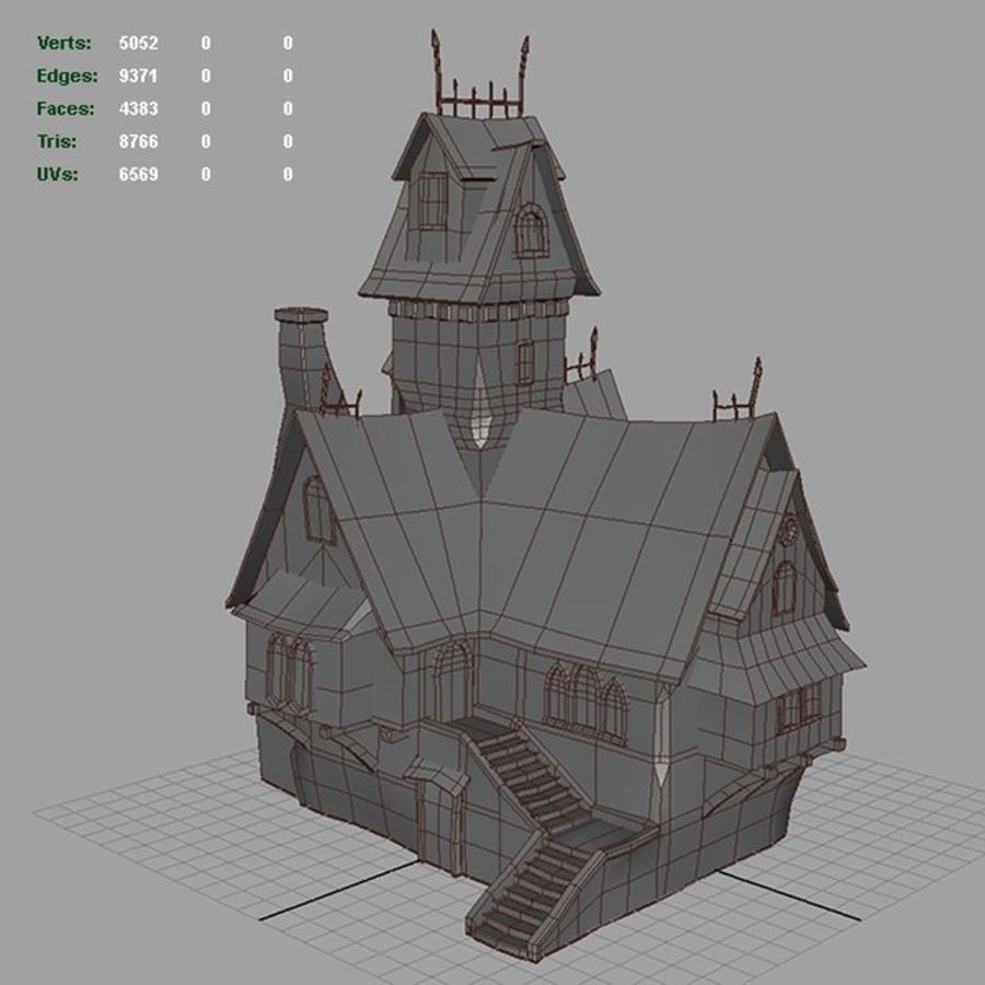 old House 3 royalty-free 3d model - Preview no. 16