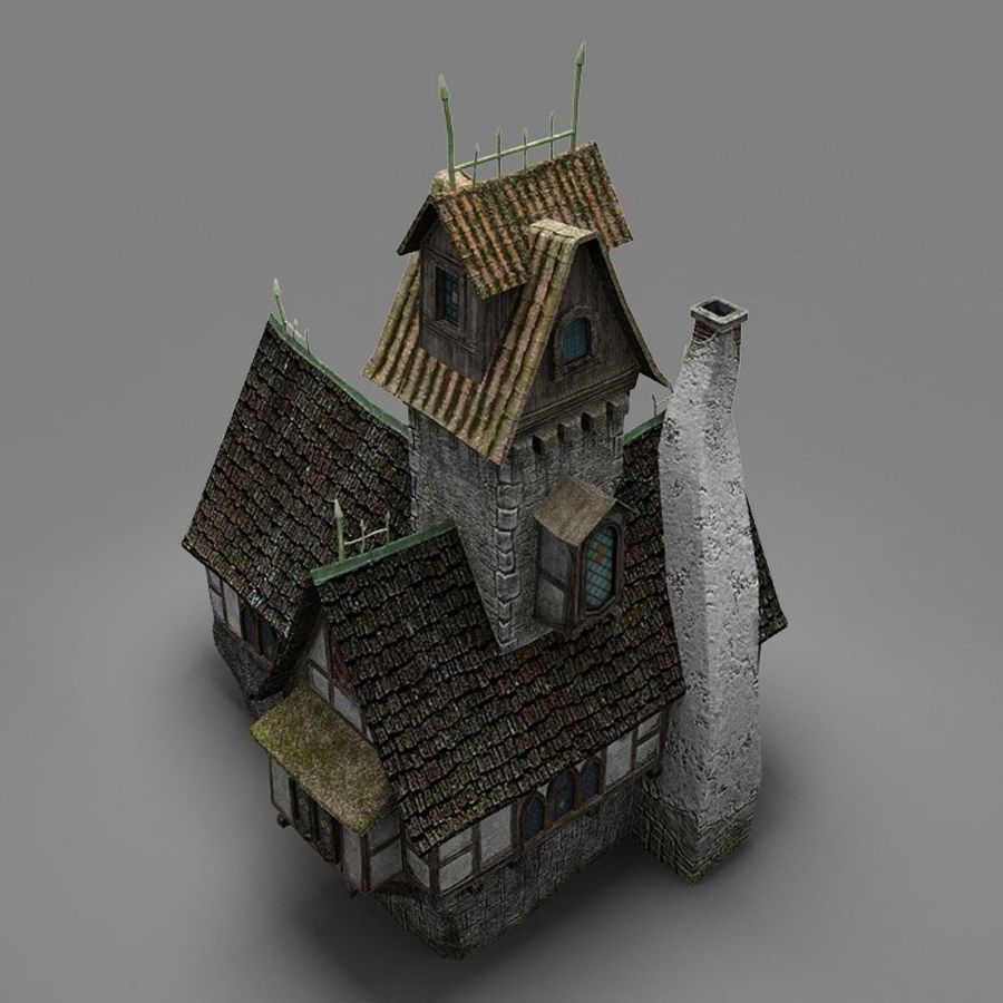 old House 3 royalty-free 3d model - Preview no. 12