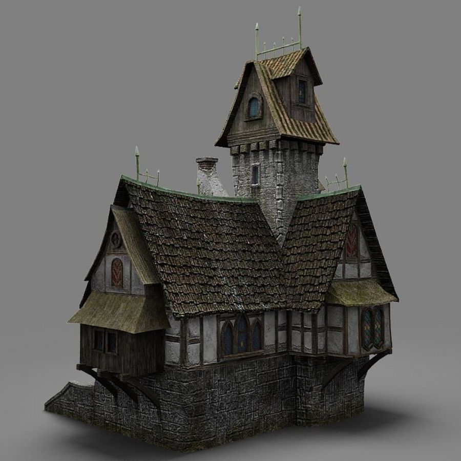 old House 3 royalty-free 3d model - Preview no. 4