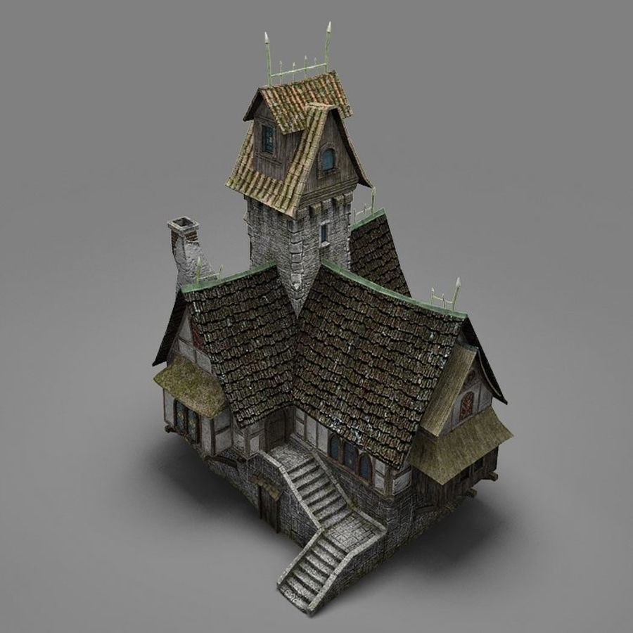 old House 3 royalty-free 3d model - Preview no. 10