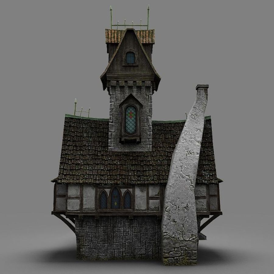 old House 3 royalty-free 3d model - Preview no. 7
