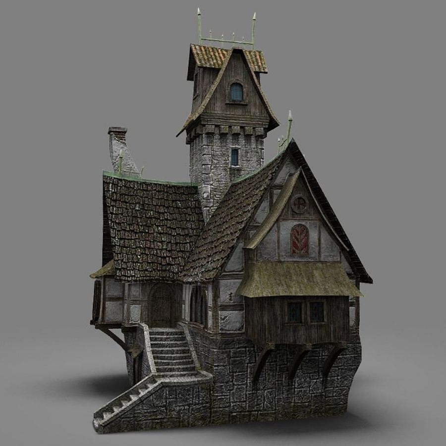 old House 3 royalty-free 3d model - Preview no. 3