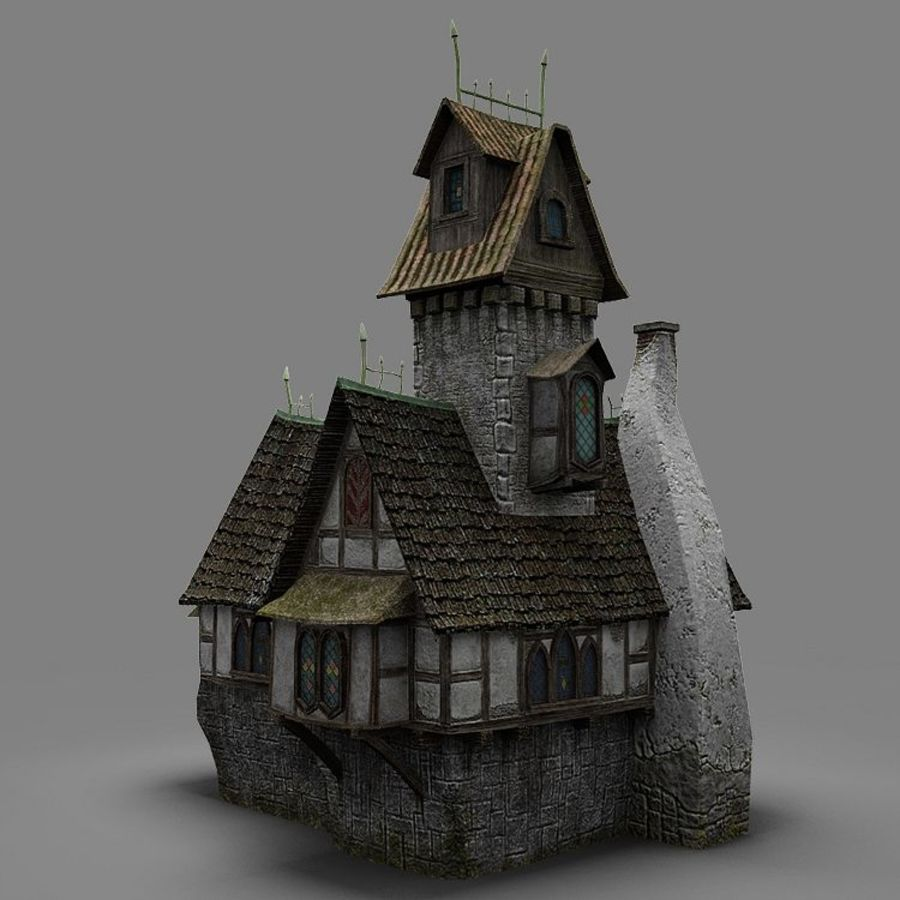 old House 3 royalty-free 3d model - Preview no. 6