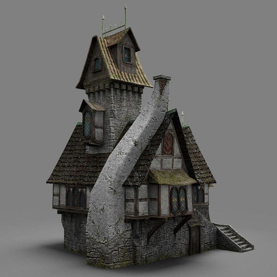 old House 3 royalty-free 3d model - Preview no. 8