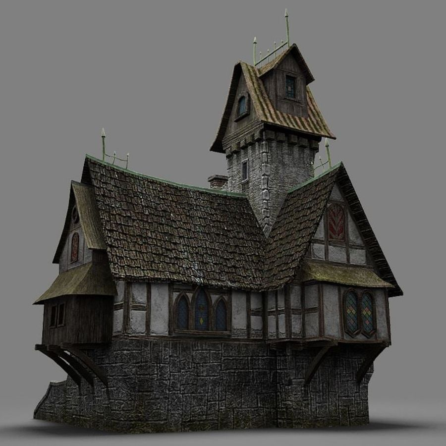 old House 3 royalty-free 3d model - Preview no. 15