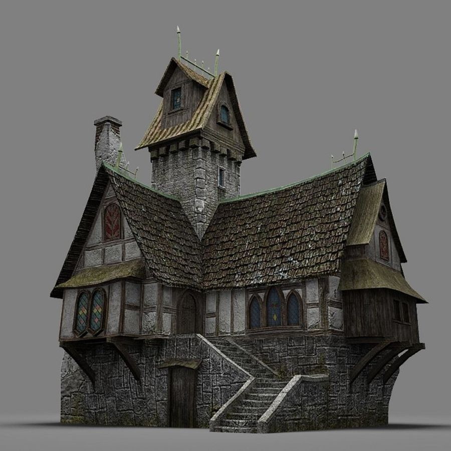 old House 3 royalty-free 3d model - Preview no. 13