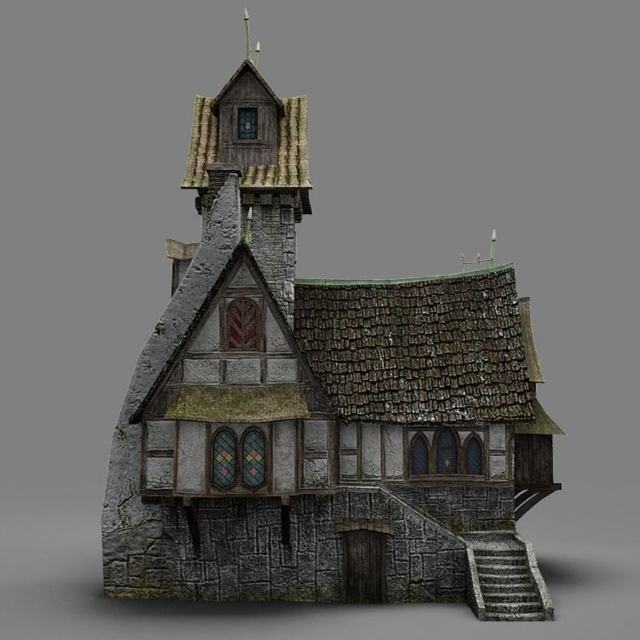 old House 3 royalty-free 3d model - Preview no. 9