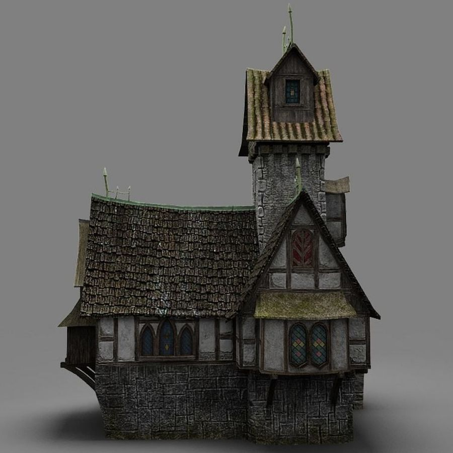 old House 3 royalty-free 3d model - Preview no. 5