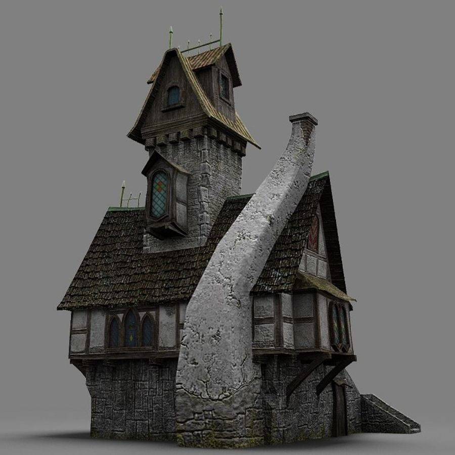 old House 3 royalty-free 3d model - Preview no. 14