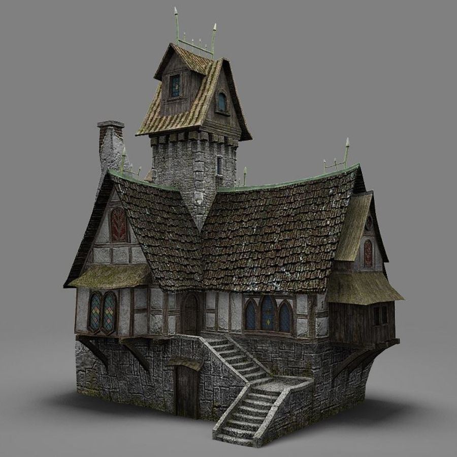 old House 3 royalty-free 3d model - Preview no. 2