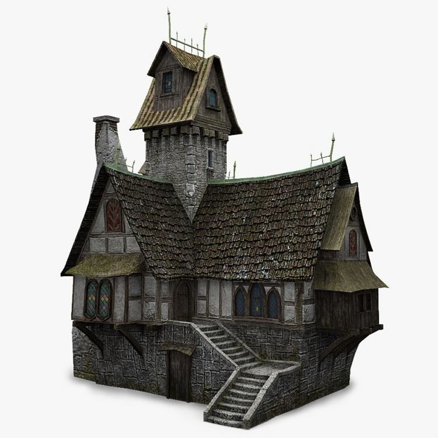 old House 3 royalty-free 3d model - Preview no. 1