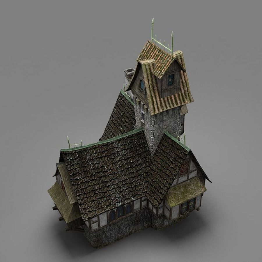 old House 3 royalty-free 3d model - Preview no. 11