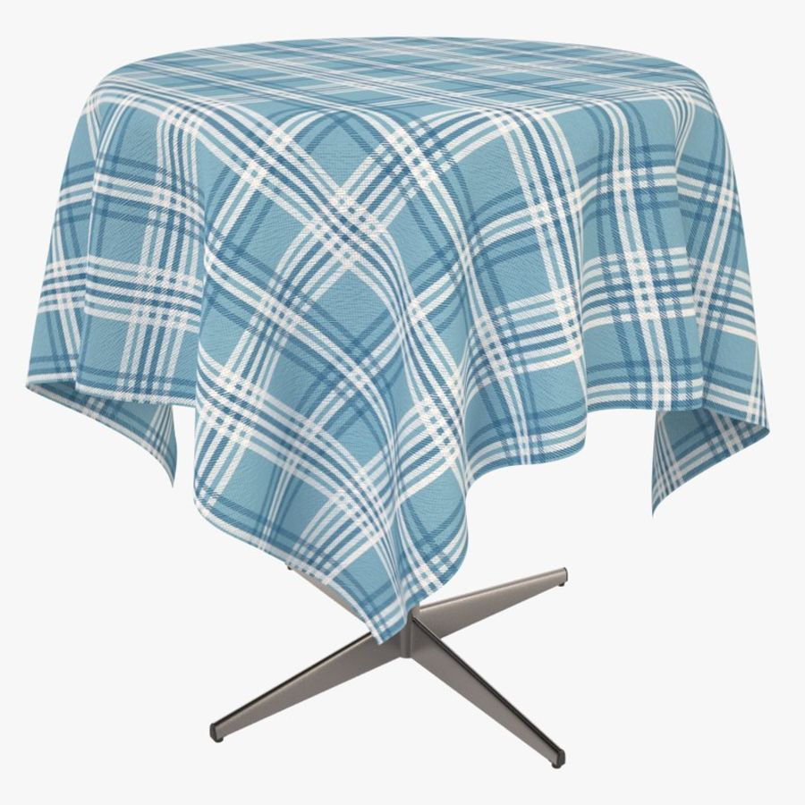 Cafe Table with cloth 3D Model $49 -  c4d  lwo  max  ma  3ds  fbx