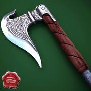 Medieval Axe V5 3d model