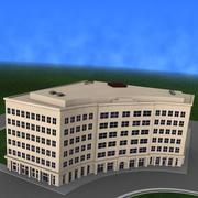 Edificio curvo detallado modelo 3d
