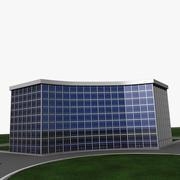 Zakrzywiony budynek biurowy 3d model