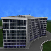 Curved Office Building 3d model