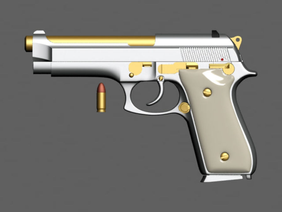 9mm | Taurus PT92 royalty-free 3d model - Preview no. 2