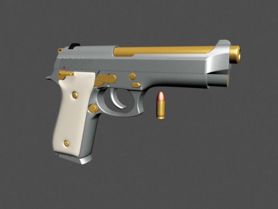 9mm | Taurus PT92 royalty-free 3d model - Preview no. 5