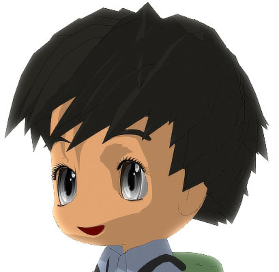 Männliches Chibi VERSION 2 royalty-free 3d model - Preview no. 2