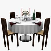 Table de restaurant 3d model