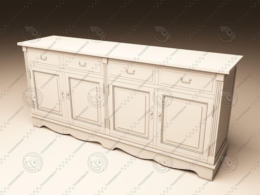 Eichholtz Cabinet Dresser royalty-free 3d model - Preview no. 3