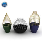 Grid Vases - Jaime Hayon 3d model