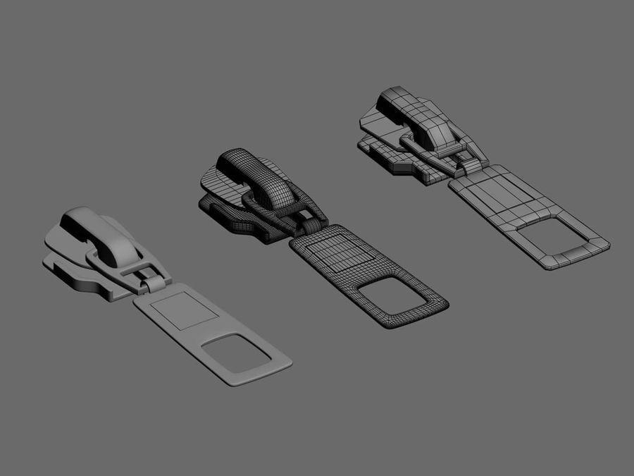 zipper royalty-free 3d model - Preview no. 2