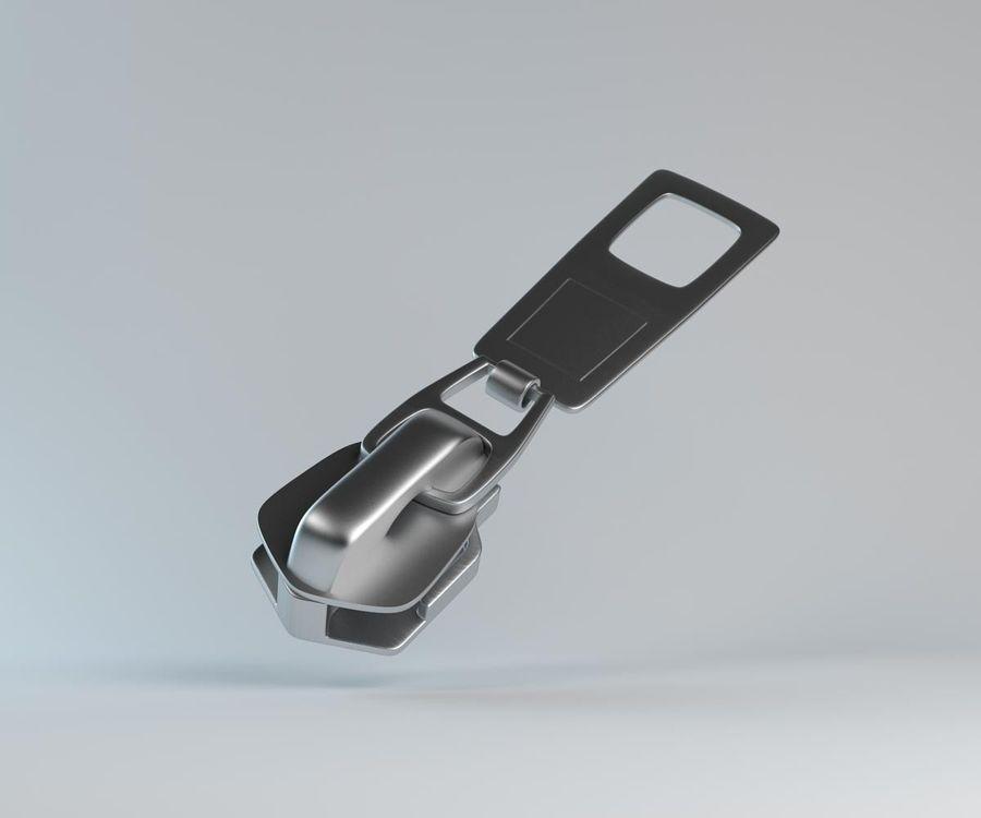 zipper royalty-free 3d model - Preview no. 1