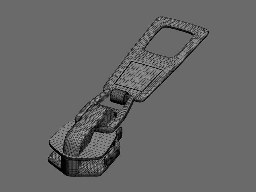 zipper royalty-free 3d model - Preview no. 4