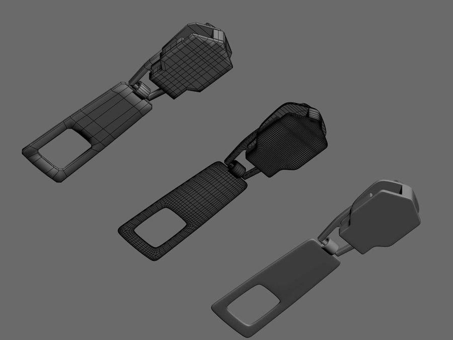 zipper royalty-free 3d model - Preview no. 3