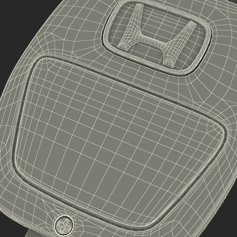 Remote Key Fob Honda royalty-free 3d model - Preview no. 19