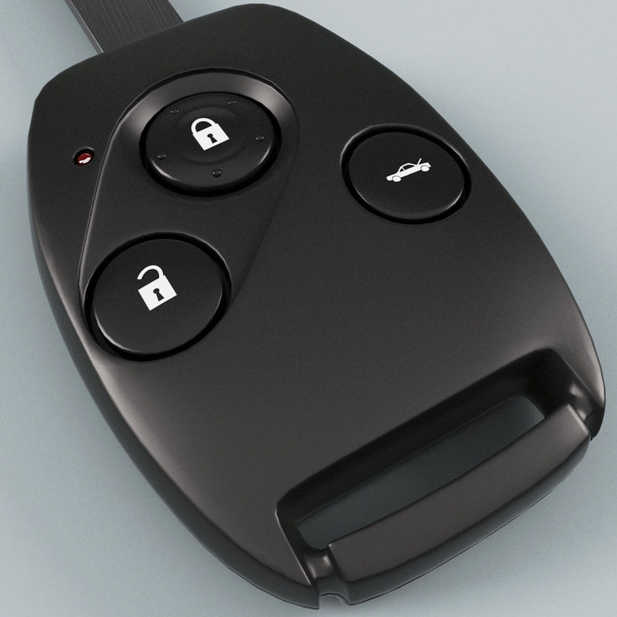 Remote Key Fob Honda royalty-free 3d model - Preview no. 8
