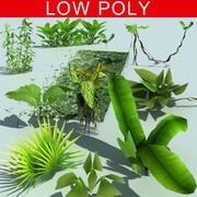 Vegetação baixa poli UDK 3d model